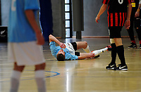 Action from the 2017 Futsal National League round one match between the Central Futsal Hawkes Bay and Canterbury United Futsal at the ASB Sports Centre in Wellington, New Zealand on Sunday, 26 November 2017. Photo: Dave Lintott / lintottphoto.co.nz