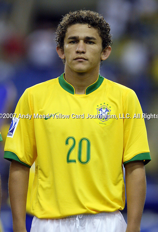 30 June 2007: Brazil's Leandro Lima. At Le Stade Olympique in Montreal, Quebec, Canada. Poland's Under-20 Men's National Team defeated Brazil's Under-20 Men's National Team 1-0 in a Group D opening round match during the FIFA U-20 World Cup Canada 2007 tournament.