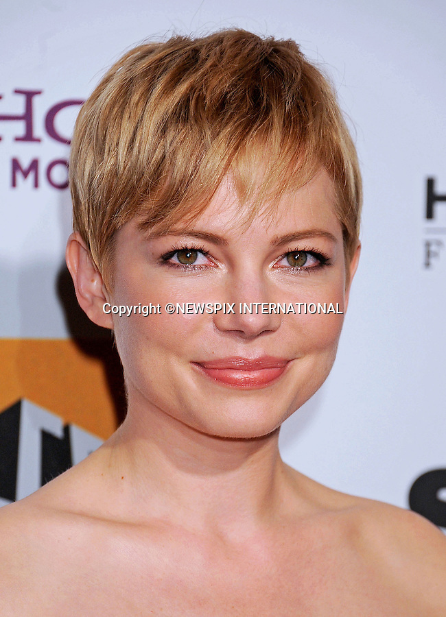 """MICHELLE WILLIAMS.attends the 15th Annual Hollywood Film Awards Gala Presented By Starz at the Beverly Hilton Hotel, Beverly Hills, Los Angeles_24/10/2011.Mandatory Photo Credit: ©Crosby/Newspix International. .**ALL FEES PAYABLE TO: """"NEWSPIX INTERNATIONAL""""**..PHOTO CREDIT MANDATORY!!: NEWSPIX INTERNATIONAL(Failure to credit will incur a surcharge of 100% of reproduction fees).IMMEDIATE CONFIRMATION OF USAGE REQUIRED:.Newspix International, 31 Chinnery Hill, Bishop's Stortford, ENGLAND CM23 3PS.Tel:+441279 324672  ; Fax: +441279656877.Mobile:  0777568 1153.e-mail: info@newspixinternational.co.uk"""