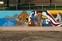 """1890 LA Mountains to Shore"" Great Wall Mural, Los Angeles, CA, Tujunga Wash, Sub Watershed, San Fernando Valley,"