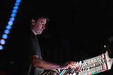 Kevin Madigan mixes the house sound for  Crosby, Stills & Nash at Max-Schmeling-Halle, Berlin, Germany