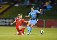 Boyds, MD - Saturday May 6, 2017: Arielle Ship, Erin Simon during a regular season National Women's Soccer League (NWSL) match between the Washington Spirit and Sky Blue FC at Maureen Hendricks Field, Maryland SoccerPlex.