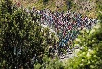 Picture by Alex Broadway/ASO/SWpix.com - 10/07/16 - Cycling - Tour de France 2016 - Stage Nine - Vielha Val d'Aran to Andorre Arcalis - The peloton in action.<br /> <br /> NOTE : FOR EDITORIAL USE ONLY. COMMERCIAL ENQUIRIES IN THE FIRST INSTANCE TO simon@swpix.com THIS IS A COPYRIGHT PICTURE OF ASO. A MANDATORY CREDIT IS REQUIRED WHEN USED WITH NO EXCEPTIONS to ASO/ALEX BROADWAY