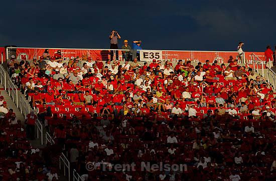 fans. Utah vs. Arizona college football Friday night at Rice-Eccles Stadium.<br />