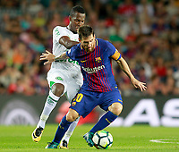 FC Barcelona's Leo Messi (r) and Chapecoense's Penilla during Joan Gamper Trophy. August 7,2017. (ALTERPHOTOS/Acero) /NortePhoto.com