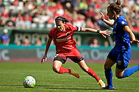 Portland, OR - Sunday, May 29, 2016: Portland Thorns FC forward Christine Sinclair (12) during a regular season National Women's Soccer League (NWSL) match at Providence Park.