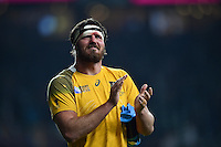 Kane Douglas of Australia celebrates after the match. Rugby World Cup Pool A match between England and Australia on October 3, 2015 at Twickenham Stadium in London, England. Photo by: Patrick Khachfe / Onside Images