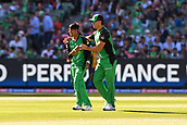 10th February 2019, Melbourne Cricket Ground, Melbourne, Australia; Australian Big Bash Cricket, Melbourne Stars versus Sydney Sixers;  Sandeep Lamichhane and Marcus Stoinis of the Melbourne Stars celebrate a wicket