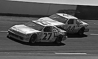 Rusty Wallace and Sterling Marlin compete in the Transouth 500 at Darlington Raceway in Darlington, SC on March 20, 1988. (Photo by Brian Cleary/www.bcpix.com)