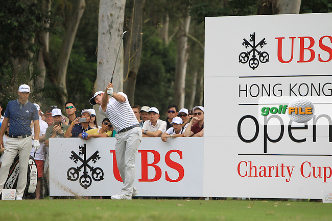 Justin Rose (ENG) on the 11th tee during Round 1 of the 2015 UBS Hong Kong Open at the Hong Kong Golf Club in The Netherlands on 2/10/15.<br /> Picture: Thos Caffrey | Golffile
