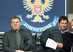 St Johnstone v St Mirren....06.10.12      SPL.Celtic boss Neil Lennon at the game with Gary Parker.Picture by Graeme Hart..Copyright Perthshire Picture Agency.Tel: 01738 623350  Mobile: 07990 594431