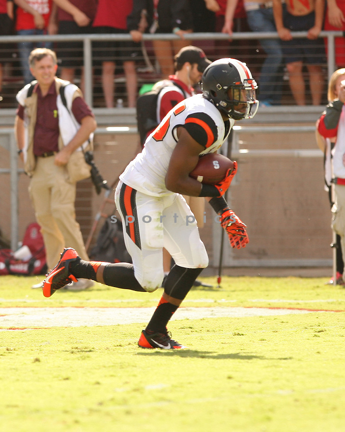 Oregon State Beavers Ryan Murphy (25) during a game against the Stanford Cardinal on October 25, 2014 at Stanford Stadium in Stanford, CA. Stanford beat Oregon State 38-14.