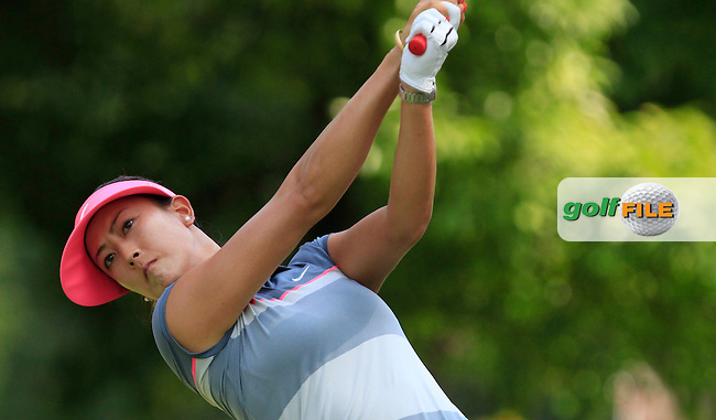 Michelle Wie (USA) on the 9th tee during Round 3 of the HSBC Women's Champions at the Sentosa Golf Club, The Serapong Course in Singapore on Saturday 7th March 2015.<br /> Picture:  Thos Caffrey / www.golffile.ie