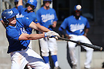 Western Nevada's Conor Harber hits a pop fly in a college baseball game against Salt Lake Community College, in Carson City, Nev., on Friday, March 1, 2013. SLCC won the first game 3-2. .Photo by Cathleen Allison/Nevada Photo Source