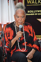 LOS ANGELES, CA. August 11, 2016: Della Reese at Hollywood Walk of Fame Star ceremony for actress Roma Downey. <br /> Picture: Paul Smith / Featureflash