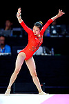 Shiho Nakaji (JPN), <br /> AUGUST 21, 2018 - Artistic Gymnastics : <br /> Women's Individual All-Around Floor Exercise <br /> at JIEX Kemayoran Hall D <br /> during the 2018 Jakarta Palembang Asian Games <br /> in Jakarta, Indonesia. <br /> (Photo by Naoki Nishimura/AFLO SPORT)