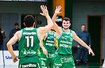 S&ouml;dert&auml;lje 2015-04-10 Basket SM-Semifinal 5 S&ouml;dert&auml;lje Kings - Sundsvall Dragons :  <br /> S&ouml;dert&auml;lje Kings Filip Kovacek jublar med Dino Butorac under matchen mellan S&ouml;dert&auml;lje Kings och Sundsvall Dragons <br /> (Foto: Kenta J&ouml;nsson) Nyckelord:  S&ouml;dert&auml;lje Kings SBBK T&auml;ljehallen Sundsvall Dragons jubel gl&auml;dje lycka glad happy