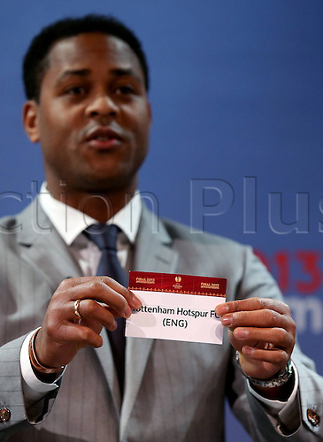 15.03.2013. Nyon, Switzerland. The Europa League quarter final drawing.  Tottenham Hotspur (Eng) is drawn from the pot by Patrick Kluivert to play Basel