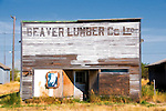 The old Beaver Lumber in Robsart, Saskatchwan. Robsart is largely deserted today.