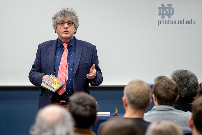 January 27, 2017; Irish poet Paul Muldoon reads at a Keough-Naughton Institute for Irish Studies event. (Photo by Matt Cashore/University of Notre Dame)