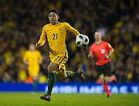 Australia Massimo Luongo during the International Friendly match between Colombia and Australia at Craven Cottage, London, England on 27 March 2018. Photo by Andrew Aleksiejczuk / PRiME Media Images.