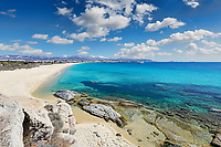 Agios Prokopios beach in Naxos island, Greece