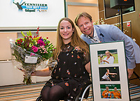 Rotterdam, Netherlands, December 17, 2017, Topsportcentrum, Ned. Loterij NK Tennis, Tennisplayer of the year award, Lifetime achiefment award goes to Jiske Griffioen <br /> Photo: Tennisimages/Henk Koster