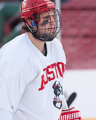 Nick Roberto (BU - 15) - The Boston University Terriers practiced on the rink at Fenway Park on Friday, January 6, 2017.The Boston University Terriers practiced on the rink at Fenway Park on Friday, January 6, 2017.