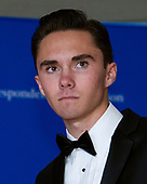 Parkland shooting survivor and activist David Hogg arrives for the 2018 White House Correspondents Association Annual Dinner at the Washington Hilton Hotel on Saturday, April 28, 2018.<br /> Credit: Ron Sachs / CNP<br /> <br /> (RESTRICTION: NO New York or New Jersey Newspapers or newspapers within a 75 mile radius of New York City)