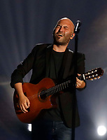 Giuliano SanGiorgi performs during &quot;Pino &egrave;&quot; tribute concert at Pino Daniele, Italian singer dead in 2015,<br /> Naples 07 june 2018<br /> ph cixer