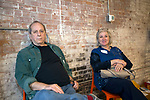 Winsted, CT-19, October 2017-101917CM03 Social moments from left Steve Katz and Alison Palmer of Kent  are photographed during a CultureMIX event sponsored by The Northwest Connecticut Arts Council at the Mad River Lofts in Winsted on Thursday.   Christopher Massa Republican-American