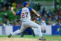 7 March 2009: #27 Bruce Chen of Panama pitches against Puerto Rico during the 2009 World Baseball Classic Pool D match at Hiram Bithorn Stadium in San Juan, Puerto Rico. Puerto Rico wins 7-0 over Panama.