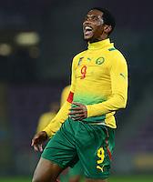 FUSSBALL   INTERNATIONAL   Testspiel    Albanien - Kamerun       14.11.2012 Samuel Eto o (Kamerun) emotional