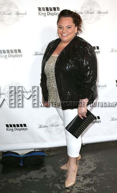 Keala Settle attending the 69th Annual Theatre World Awards at the Music Box Theatre in New York City on June 03, 2013.