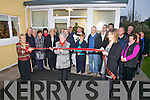 Portmagee Community Centre opened their new Day Care extension on Saturday, the honor of cutting the ribbon fell on Ann O'Keeffe pictured here.