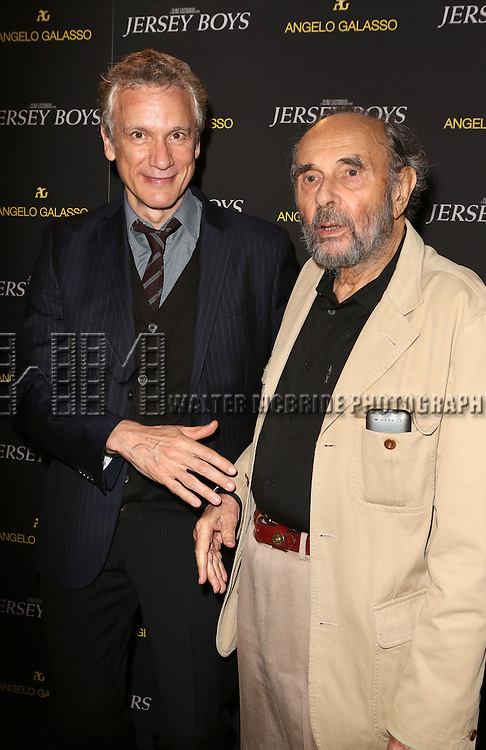 Rick Elice and Stanley Donen attend a special New York screening  reception for 'Jersey Boys' hosted by Angelo Galasso  at Angelo Galasso on June , 2014 in New York City.
