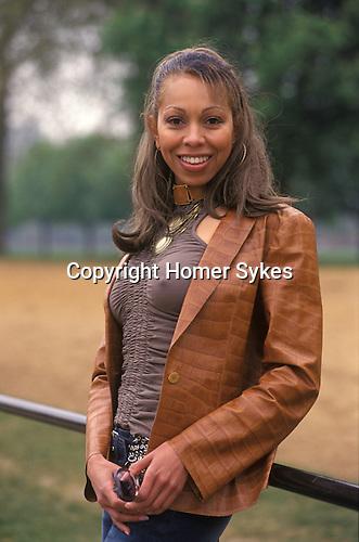 Angela  Ermakowa. London, England. Mother of love child of Boris Becker. 2003