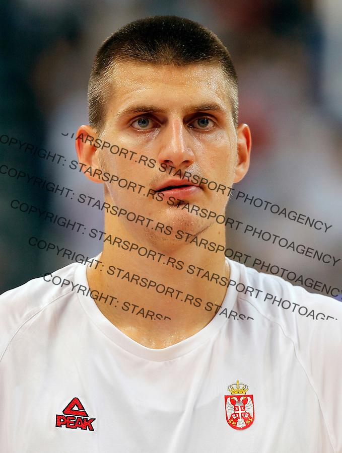 Nikola Jokic Kosarka Srbija - Francuska prijateljska 25.6.1016. JUN 25. 2016. (credit image & photo: Pedja Milosavljevic / STARSPORT)