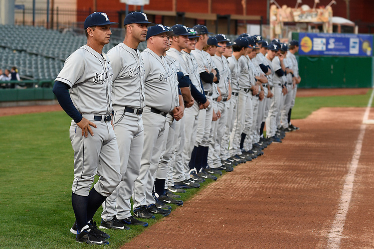 May 21, 2015; Stockton, CA, USA; BYU Cougars head coach Mike Littlewood (30) during the WCC Baseball Championship at Banner Island Ballpark.