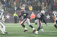 FOXBOROUGH, MA - NOVEMBER 24: New England Patriots Quarterback Tom Brady #12 moves in the pocket during a game between Dallas Cowboys and New England Patriots at Gillettes on November 24, 2019 in Foxborough, Massachusetts.