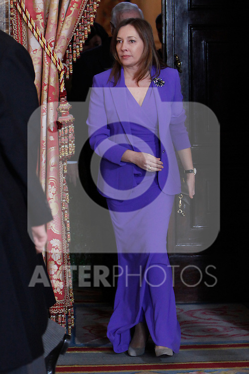 Elvira Fernandez attends the reception of the diplomatic corps in Spain at Palacio Real. January 23, 2013. (ALTERPHOTOS/Caro Marin)