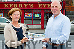 Siobhan O'Sullivan from Ballymac, Tralee who won the Kerry's Eye Fota island resort competition with Brendan Kennelly marketing manager Kerry's Eye.