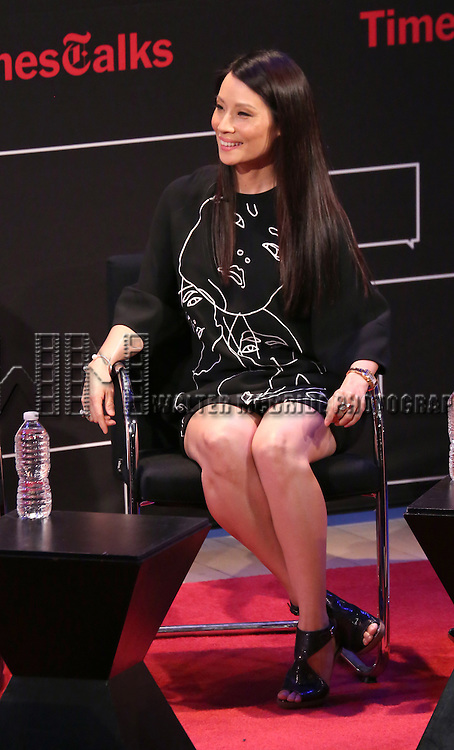 Lucy Liu on stage at 'TimesTalks: Powerful Women of TV' at Times Center on July 24, 2014 in New York City.