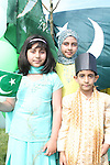 Haniya, Nabiha and Mujtaba Ali celebrating Pakistani Independence Day in Rose Hall...Picture Jenny Matthews/Newsfile.ie