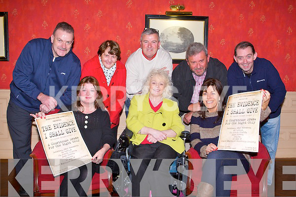 THEATRE TIME: Launching the Zyber Theatre Company's play The Evidence I Shall Give in aid of Tralee MS Society to held at St John's Church, Ashe Street, Tralee on Saturday 26th of November at 8:00pm seated l-r: Gillian Wharton-Slattery (Zyber Theatre Company), Mary Horan (Tralee MS society) and Rhona Johnston. Back l-r: Ted Cronin (Zyber Theatre Company and Tralee MS society), Bridget O'Connor, Henry Burrows (chairman Tralee MS society), Ken Quillinan and George Lowe.