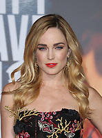 LOS ANGELES, CA - NOVEMBER 13: Caity Lotz, at the Justice League film Premiere on November 13, 2017 at the Dolby Theatre in Los Angeles, California. <br /> CAP/MPI/FS<br /> &copy;FS/MPI/Capital Pictures