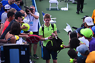 Washington, DC - August 4, 2017: Kevin Anderson leaves the court after his quarterfinal match with Yuri Bhambri at the Citi Open held at the Rock Creek Tennis Center in Washington, D.C., August 4, 2017.  (Photo by Don Baxter/Media Images International)