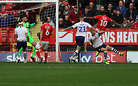 Chuks Aneke of Charlton Athletic misses a cross that goes wide during Charlton Athletic vs Preston North End, Sky Bet EFL Championship Football at The Valley on 3rd November 2019