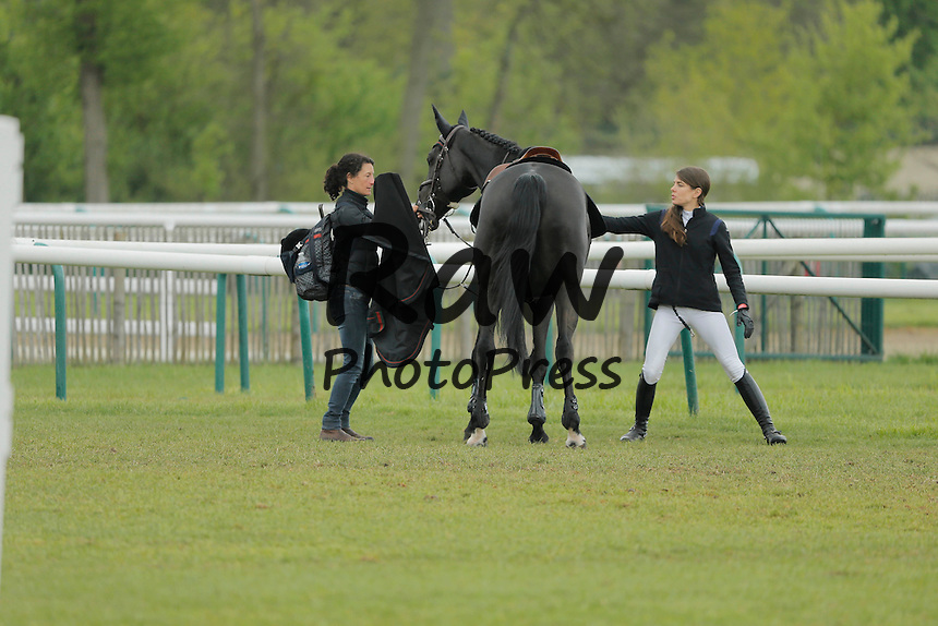 196253 P. Katchers / Starface 2015-04-25 Oise<br /> Chantilly France<br />  Jumping de Chantilly 2015.<br /> <br /> <br /> <br /> <br />  Casiraghi, Charlotte (Monaco) Carlota Casiraghi y Guillaume Canet han participado en el concurso de saltos de Chantilly.<br /> <br /> 196253 P. Katchers / Starface 2015-04-25 Oise<br /> Chantilly France<br />  Jumping de Chantilly 2015.
