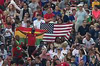 East Hartford, CT - Saturday July 01, 2017: Fans during an international friendly game between the men's national teams of the United States (USA) and Ghana (GHA) at Pratt & Whitney Stadium.